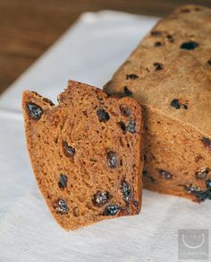 The recipe is from the back of the packaging of Bob's Red Mill Gluten Free Cinnamon Raisin Bread Mix. The recipe on the packaging called for eggs, so we substituted 2 eggs for the egg replacer to make it vegan. We used Ener-G Egg Replacer to make it gluten-free. The cinnamon raisin bread mix is loaded with raisins and cinnamon. You can easily make it by a bread machine or by hand. Read at the end of the post for our verdict with the mixture and the recipe. Thanks to Sophia, for pointing this…