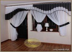 Firana balkonowa firanki Firany Balkon Fala kar 3m - 5957286227 - oficjalne archiwum allegro Curtains And Draperies, Elegant Curtains, Home Curtains, Window Curtains, Red Kitchen Curtains, Kitchen Curtain Designs, Rideaux Design, Satyr, Interior Decorating