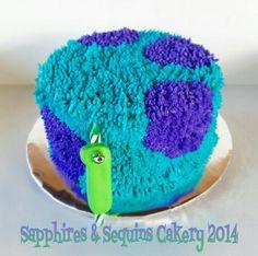 Monster's Inc inspired smash cake.