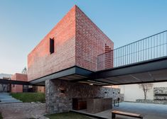 Delfino Lozano's Casa G features an elevated brick games room