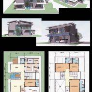 Pelan rumah dua tingkat banglo My House Plans, Floor Plans, How To Plan, Floor Plan Drawing, House Floor Plans