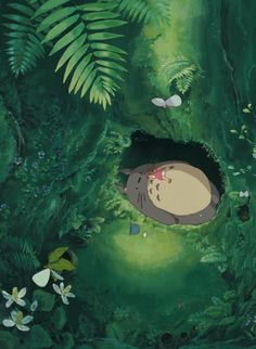 MY NEIGHBOR TOTORO. So peaceful... I want this to be my poster