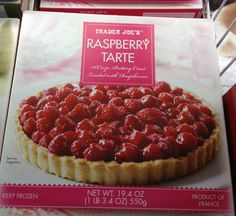 Raspberry Tarte, frozen dessert from Trader Joe's Raspberry Desserts, Raspberry Tarts, Frozen Desserts, Holiday Desserts, Game Of Thrones Food, Game Of Thrones Party, Yummy Treats, Sweet Treats, Healthy Treats