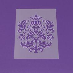 Schablone+A3+Damask+Barock+Muster+Ornament+-+LM25+von+Lunatik+•+Gestaltungs-+und+Geschenkideen+auf+DaWanda.com