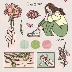 Aesthetic Drawing, Aesthetic Art, Dibujos Cute, Cute Images, Anime Art Girl, Cute Stickers, Cartoon Art, Cute Drawings, Cute Art