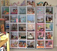 Stacked Crates for doll rooms. but maybe not so many!