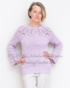 Ravelry: Berries Yoke Top / Sweater pattern by Natalia Kononova Crochet Stitches, Crochet Patterns, Christmas Knitting Patterns, Dress Gloves, Yarn Brands, Crochet Clothes, Clothing Patterns, Knit Crochet, Pullover