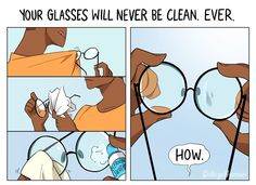 6 Problems People Who Wear Glasses Will Understand Funny Relatable Memes, Funny Jokes, Hilarious, Glasses Meme, People With Glasses, Nerd Girl Problems, College Humor, Illustrations, Stupid Funny