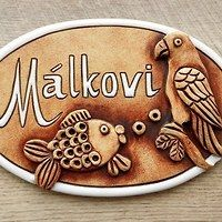 Hledání zboží: keramická jmenovka / Zboží | Fler.cz Clays, Enamel, Fish, Creative, Desserts, Bottles, Tailgate Desserts, Vitreous Enamel, Deserts