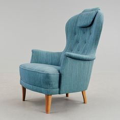 "Fåtölj ""Farmor"" Carl Malmsten Wingback Chair, Armchair, Accent Chairs, Furniture, Home Decor, Sofa Chair, Upholstered Chairs, Single Sofa, Decoration Home"