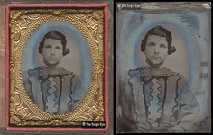 an unknown soldier in Trans-Mississippi Confederate Battle Shirt: Tintype c.1861