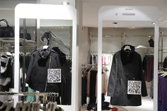Using PowaTags in store - Motivi in Italy, set up 2 stores in Milan with PowaTags on the clothes for easy purchasing