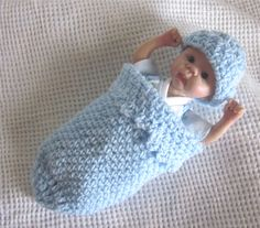3 Pc Cocoon & Onesie set for a 78 OOAK baby by SewCute4U2 on Etsy