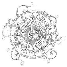 Hand drawn Mandala By Suzi Flower Mandala, Amazing Art, Hand Drawn, How To Draw Hands, Cute Animals, Personalized Items, Flowers, Mandalas, Pretty Animals