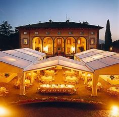 Tuscany Wedding Venue in Lucca - love the marquee