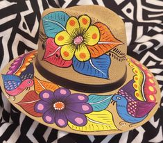 Custom Caps, Painted Clothes, Fabric Painting, Mall, Birds, Hand Painted, Homemade, Crafts, Women