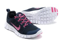 Nike Free Powerlines II Womens Navy Pink White