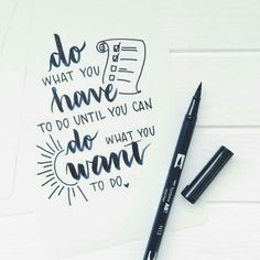 Brush lettering with Tombow ABT Dual brush pen . Brush lettering with Tombow ABT Dual brush pen Mo Lettering Brush, Hand Lettering Quotes, Typography Quotes, Lettering Ideas, Handwritten Quotes, Calligraphy Quotes Doodles, Doodle Quotes, Caligraphy, Calligraphy Quotes Motivation