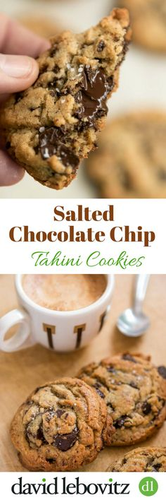 These delicious cookies have the nutty flavor of tahini and huge chunks of melting chocolate. They're going to be your favorite chocolate chip cookie ever! via @davidlebovitz