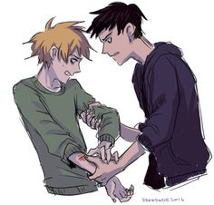 """""""W-wait don't-"""" """"How long, Tweek...?""""  I don't know who wrote that or drew that but you two need to get together"""