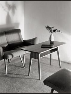 Willi Moegle, Photography of interior design, 1950s. Stuttgart, Germany. Gelatin silver print on Agfa Lupex.