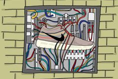 Image of An Illustrated Preview of Nike's 2013 Spring/Summer Footwear by Josh Parkin for The Chimp Store