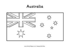 Australian Flag Colouring in Page