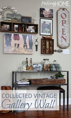 DIY:: Farmhouse Vintage Gallery Wall For Little to No Cost ! (Great Tips and Tutorial)