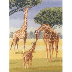 Heritage Crafts Power And Grace Giraffes WI 08 Cross Stitch Kit