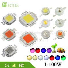 High Power LED-Chip 1 Watt 3 Watt 5 Watt 10 Watt 20 Watt 30 Watt 50 Watt 100 Watt SMD COB Licht Warm Kalt Weiß Rot Grün Blau RGB Gesamte Spektrum Wachsen licht