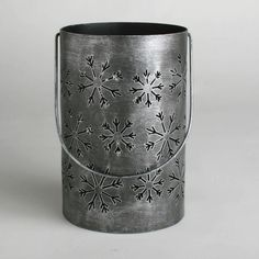 Have to have it. Tag Large Snowflake Punch-out Antique Silver Lantern $22.00