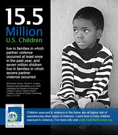 15.5 million U.S. children live in families in which partner violence occurred at least once in the past year.