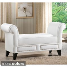 Shop for Baxton Studio Marsha Modern Scroll Arm Bench. Get free shipping at Overstock.com - Your Online Furniture Outlet Store! Get…