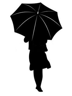 Girl Under Umbrella Silhouette Silhouette Of Girl With Umbrella Silhouette Clip Art, Girl Silhouette, Silhouette Images, Silhouette Portrait, Umbrella Art, Tinta China, Spring Painting, Plate Art, Crayon Art