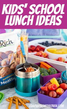 Kids School Lunch Ideas 17944098503299848 - Great Kids' School Lunch Ideas You'll Actually Use! Love these simple but effective tips for packing a great school lunch! Source by lovefromtheoven Packing School Lunches, Easy School Lunches, Toddler Lunches, After School Snacks, School Treats, Lunch Snacks, Lunch Box, Kid Snacks, Snacks Recipes