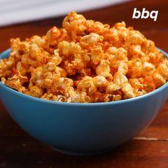 Flavored Popcorn 4 Ways: Honey Mustard, Cool Ranch, BBQ, And Buffalo Popcorn Snacks, Flavored Popcorn, Gourmet Popcorn, Popcorn Recipes, Popcorn Flavours, Vegan Popcorn, Popcorn Balls, Appetizer Recipes, Recipes