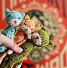 Háčkované kočky Volné vzory