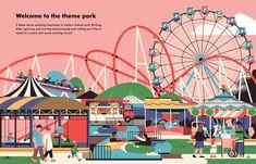What Do Machines Do All Day book – Aleksandar Savić Flat Design Illustration, City Illustration, Business Illustration, Make Theme, Digital Storytelling, Kids Story Books, Day Book, Graphic Design Posters, Illustrations And Posters