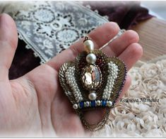 #beads #swarovski #embroidery #handmadebrooch #brooch #beads #питер…
