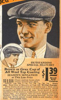 The large cap was a standard day hat in this era. You see it worn less in modern films and shows representing the 20s I think because the size can look vaguely silly to modern eyes. But see prince of wales picture in this board, it was a serious hat.
