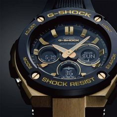 G-Shock Watches by Casio - the ultimate tough watch. Water resistant watch, shock resistant watch - built with uncompromising passion. G Shock Watches, Casio G Shock, Cool Watches, Watches For Men, True Gentleman, Gentleman Style, Baselworld 2017, Mens Digital Watches, Display Case