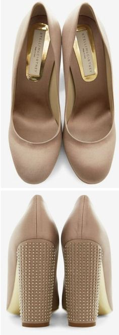 Stella McCartney Blush And Silver Pumps <3