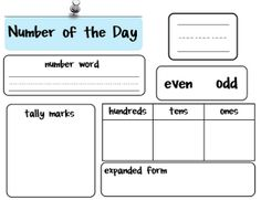 Funky First Grade Fun: Number of the Day Freebie