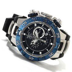 Invicta Mens Subaqua Noma V Swiss Made Chronograph Blue IP Bezel Watch 12881 NEW