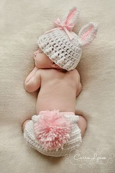 Bunny baby, only perfect since little one will be here around easter!  I need one with blue accents otherwise Mark will have a fit about it being way too girly. :-)