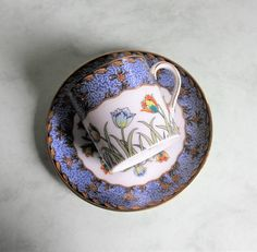 Collectible Japanese Porcelain Mikoti Demitasses Cup and