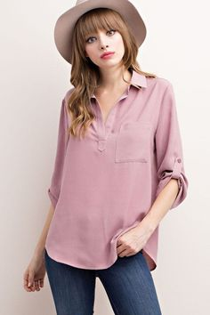Easy Breezy Beautiful Top- Blush from Chocolate Shoe Boutique