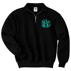 Monogram Sweatshirt Monogrammed Pullover Quarter Zip Sweatshirt Hoodie... ($36) ❤ liked on Polyvore featuring tops, hoodies, sweatshirts, white, women's clothing, fleece pullover hoodie, hooded pullover sweatshirt, white pullover hoodie, fleece sweatshirt and 1/4 zip pullover