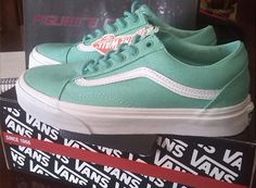 #covetme #fashion #vans #green #oldschool #oldskool #awesome #inlove #tennis #shoes #trainers