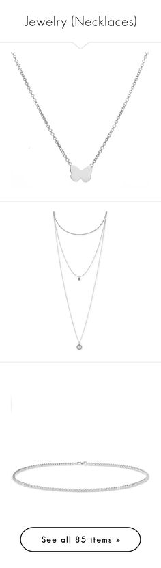 """Jewelry (Necklaces)"" by kianajade0823 ❤ liked on Polyvore featuring jewelry, necklaces, silver, lucky brand jewelry, triple layer necklace, pendant necklaces, layered pendant necklace, multi layer chain necklace, choker and accessories"